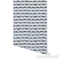 "Wrought Studio Holtzman Jagged 4' L x 24"" W Peel and Stick Wallpaper Panel NDN14968"