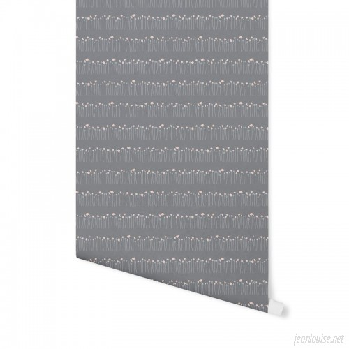 Wrought Studio Honea Stems 4' L x 24 W Peel and Stick Wallpaper Panel NDN14991
