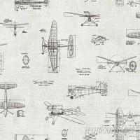 Brewster Home Fashions Gentlemen's Quarters Douglas Vintage Planes 33' x 20.5 Wallpaper BZH6203
