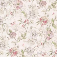 Brewster Home Fashions Kitchen Bath Resource III 33' x 20.5 Beecroft Butterfly Peony Trail Vintage Wallpaper Roll BZH3257