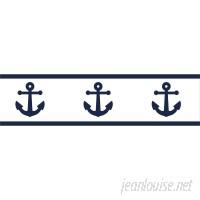 Sweet Jojo Designs Anchors Away 15 ' x 6 Scenic Border Wallpaper JJD5434