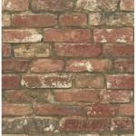 "WallPops! NuWallpaper Peel and Stick 18' x 20.5"" Brick Roll Wallpaper WPP2230"
