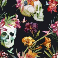 Walls Need Love Buried Treasure Removable 5' x 20 Floral Wallpaper WANL2615