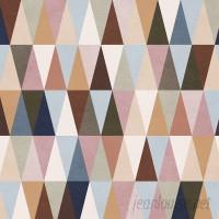 Walls Need Love Earth Triangles Removable 5' x 20 Geometric Wallpaper WANL3368
