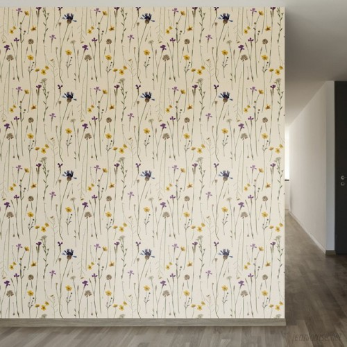 Walls Need Love Elegant Potpourri Removable 8' x 20 Floral Wallpaper WANL2822