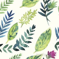 Walls Need Love Leafy Greens Removable 5' x 20 Floral Wallpaper WANL3119