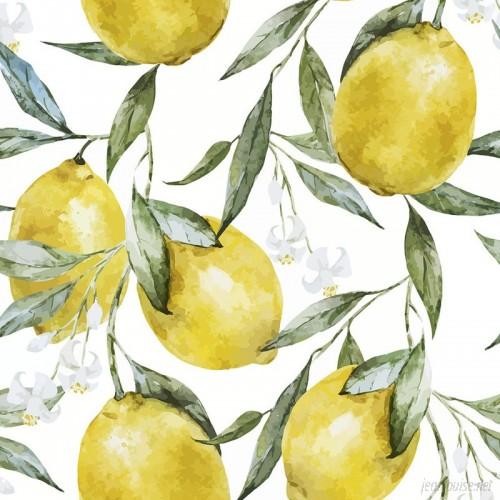 Walls Need Love Life of Lemons Removable 5' x 20 Floral Wallpaper WANL3217