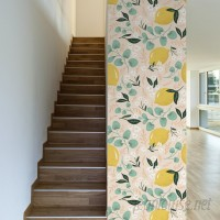 Walls Need Love Lovely Lemons Removable 10' x 20 Floral Wallpaper WANL3344