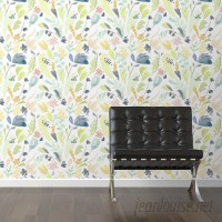 "Walls Need Love Pastel Flowers Removable 10' x 20"" Floral Wallpaper WANL3080"