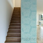 """Walls Need Love Turquoise Spirals Removable 10' x 20"""" Abstract Wallpaper WANL2843"""