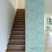 Walls Need Love Turquoise Spirals Removable 10' x 20 Abstract Wallpaper WANL2843