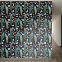 "Walls Need Love Victorian Peacock Removable 8' x 20"" Wallpaper WANL2598"