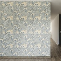 Walls Need Love Waves of Chic Removable 8' x 20 Abstract Wallpaper WANL2708