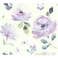 York Wallcoverings Young At Heart Watercolor Blooms 27' L x 27 W Wallpaper Roll WHW4793