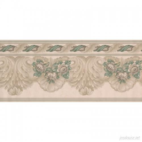 Astoria Grand Kott Wide Retro Design 15' L x 9'' W Floral and Botanical Wallpaper Border ARGD7498