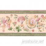 "Brewster Home Fashions 15' x 3.38"" Jacobean Floral Border Wallpaper BZH8157"