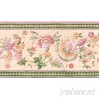 Brewster Home Fashions 15' x 3.38 Jacobean Floral Border Wallpaper BZH8157
