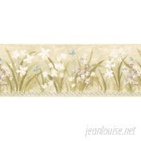 Brewster Home Fashions 15' x 8 Butterfly Garden Border Wallpaper BZH7953