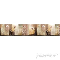 Brewster Home Fashions Borders by Chesapeake Bonnard 15' x 6 Floral 3D Embossed Border Wallpaper BZH3402