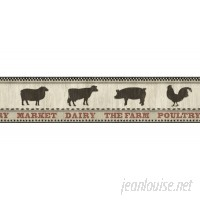 "Brewster Home Fashions Countryside Grace Farmers Market 15' x 6"" Wildlife Border Wallpaper BZH5161"