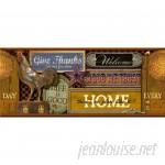 "Brewster Home Fashions New Country Americana Brown nostalgic Signs 12' L x 9"" W Matte Wallpaper Border BZH4498"