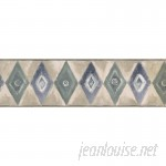 ChesapeakeWallcoverings Rhombus Geometric Design 15' L x 7'' W Wallpaper Border CHWA1074