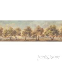 Fleur De Lis Living Chenault Faux Paint Forest Trees 0.7' L x 180 W Distressed Wallpaper Border REAT1713