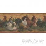 "Fleur De Lis Living Dowling Rooster Hen Farmhouse 10.5' L x 180"" W Wildlife Wallpaper Border FDLL7931"