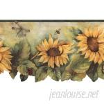 "Norwall Wallcoverings Inc Fresh Kitchens V 15' x 20.5"" Die-Cut Sunflower Border Wallpaper NOWI1292"