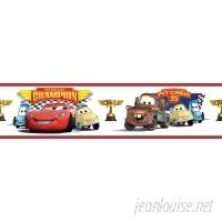 "Room Mates Cars Piston Cup Champion 33' x 20.5"" Border Wallpaper RZM2269"