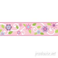 """Room Mates Studio Designs 15' x 4.5"""" Floral Border Wallpaper RZM1464"""