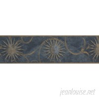 Winston Porter Mains Vintage Faces on Sun Damask Scroll 15' L x 6.75'' W Abstract Wallpaper Border WNSP2711