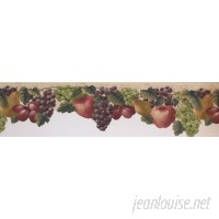York Wallcoverings 15' L x 5.5'' W Grapes Apple Plums Retro Design Wallpaper Border WHW3681