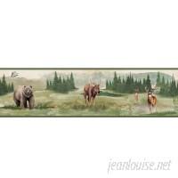 "York Wallcoverings 15' L x 6"" W Wilderness Wallpaper Border WHW3557"