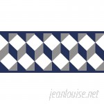 "York Wallcoverings Border Portfolio II Escher 15' x 6"" Geometric Border Wallpaper WHW3149"