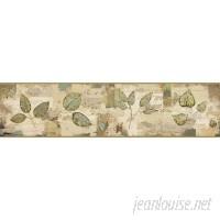"York Wallcoverings Border Portfolio II Pressed Leaves 15' x 6"" Floral Botanical Border Wallpaper DOQ2276"