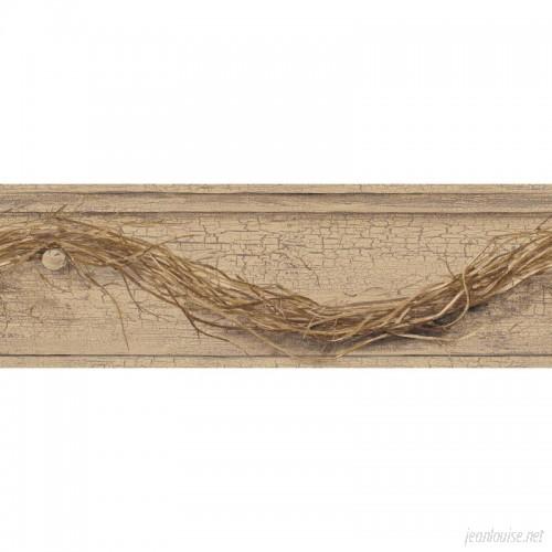 York Wallcoverings Country Keepsakes Grapevine Twig 15' x 6 Border Wallpaper DOQ1788