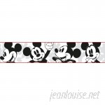 "York Wallcoverings Disney Kids III Classic Mickey Mouse 15' x 1.5"" Wallpaper Border WHW3384"
