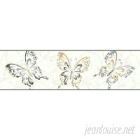 York Wallcoverings Growing Up Kids Butterfly/Scroll Removable 0.56' x 1.5 Wallpaper Border DOQ2348