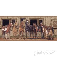 York Wallcoverings Portfolio II Little Partner Horse 15' L x 9 W Wallpaper Border WHW2358