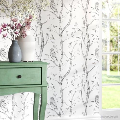 August Grove Kraker 18' x 20.5 Gray Woods Wallpaper Roll ATGR4647