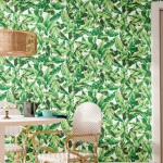 """Bay Isle Home Howard Palm Leaf 16.5' L x 20.5"""" W Floral and Botanical Peel and Stick Wallpaper Roll BYIL4148"""
