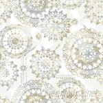 """Bungalow Rose Iliana Bohemian 16.5' L x 20.5"""" W Floral and Botanical Peel and Stick Wallpaper Roll BGRS3789"""