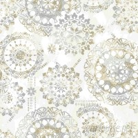 Bungalow Rose Iliana Bohemian 16.5' L x 20.5 W Floral and Botanical Peel and Stick Wallpaper Roll BGRS3789