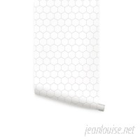 George Oliver Wyche Hexagon Lines 4' L x 24 W Peel and Stick Wallpaper Roll GOLV3931