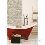 """Room Mates Peel and Stick 16.5' x 20.5"""" Stone Roll Wallpaper RZM3261"""