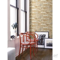 Room Mates Peel and Stick 20.5' x 16.5 Brick 3D Embossed Roll Wallpaper RZM3265