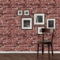 SimpleShapes 4' x 24 Brick Peel and Stick Wallpaper Roll SSHA1083