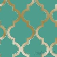 Tempaper Tempaper® Marrakesh 33' x 20.5 Trellis Foiled Wallpaper Roll TZP1040