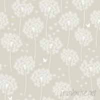 """WallPops! Dandelion 18' x 20.5"""" Taupe Wallpaper Roll WPP1809"""